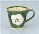 織部椿マグカップ(小)