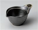 鉄釉一珍ライン手付き鉢