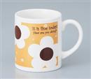 ハッピーフラワーマグカップ ブラウン