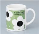 ハッピーフラワーマグカップ グリーン