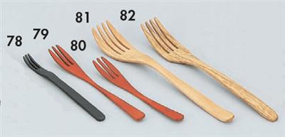 木製カトラリー黒フォークM