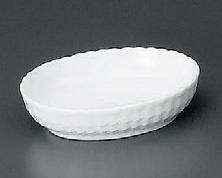 白磁カゴメ深小皿