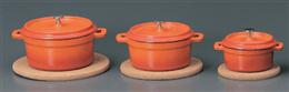 鉄製18cm手付鍋ベイクオレンジ