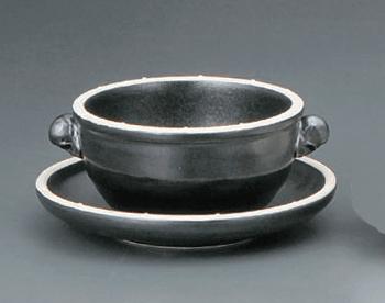 黒白ポイント巻耳スープカップ