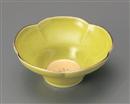 五釉金緑花型小鉢