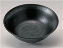 黒釉銀竜紋6.8浅高台丼