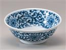 染付唐草麺鉢
