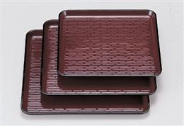 耐熱角盆 ウルミ鎌倉彫 ノンスリップ加工 尺0寸
