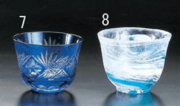 2165-1藍華冷茶グラス
