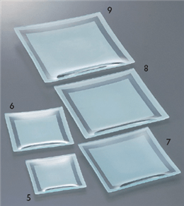 Glassware アラカルトCH13cmスクエアープレート