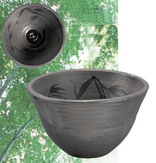 唐津草文24cm手洗鉢(金具付)