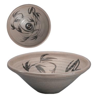唐津草文31cm手洗鉢(金具付)