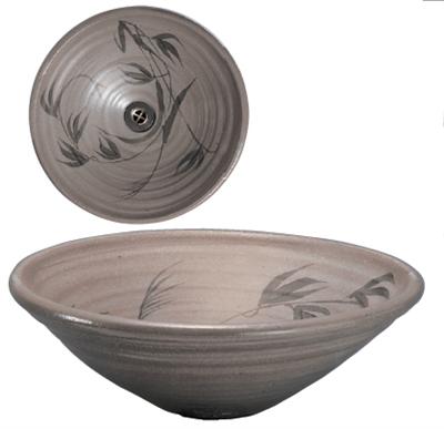 唐津草文38cm手洗鉢(金具付)