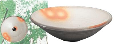 粉引38cm手洗鉢(金具付)