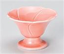 桃釉花型小付