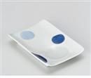 二色丸紋スマート皿
