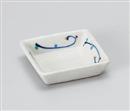 青絵角豆皿
