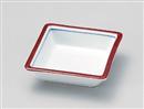 渕赤四角鉢
