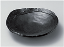 彫刻黒釉丸盛皿