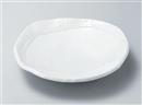 彫刻白釉丸盛皿