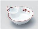 赤絵武蔵野ひさご型鉢