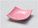 ピンク正角深皿