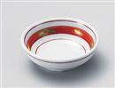 赤絵手描丸鉢