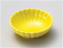 イエロー菊型鉢