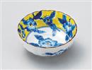 黄彩花紋菊型3.5鉢