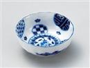 藍丸紋菊型3.5鉢