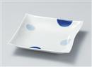 二色丸紋角浅大鉢