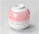 ピンク吹金線まゆ型むし碗(小)