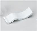 白磁波型箸置