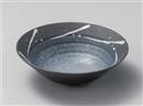 黒釉白一珍7.0鉢