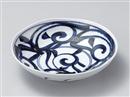 藍草紋六兵5.5浅鉢