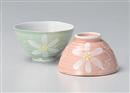 花丸碗 ピンク