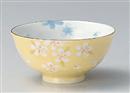 京梅黄巻茶碗