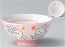 白磁スマイルうさぎ子供茶碗