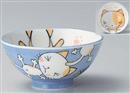 ブルーネコ子供茶碗