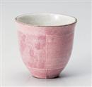 ピンク色十草ふわわ湯呑