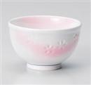 ピンク花彫煎茶