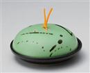 ヒワ釉黒飛ばし陶板鍋(大)