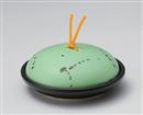 ヒワ釉黒飛ばし陶板鍋(小)