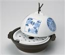染付ドーム型鍋・蒸し器(目皿付)