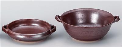 鉄砂5.5号耐熱平鉢(厚口)
