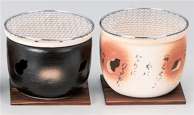 黒5号伊勢コンロ(金網・板付)