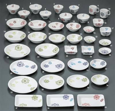 花紋 花紋(赤)焼物皿