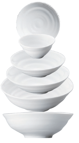白磁波14㎝小鉢