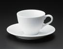 白磁三角コーヒーc/s(碗と受け皿セット)