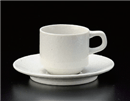 ベーシック粉引スタックコーヒー碗皿(碗と受け皿セット)
